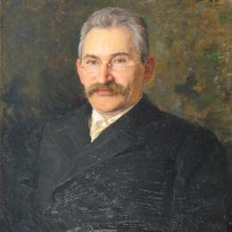 尼古萊·庫茲涅佐夫(Nikolai Kuznetsov)高清作品:Portrait of Konstantin Andreevich Pyatnitsky, director of Ri