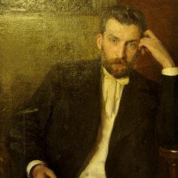 尼古萊·庫茲涅佐夫(Nikolai Kuznetsov)高清作品:Portrait of the artist Albert Benois