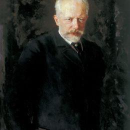 《作曲家彼得·伊里奇·柴可夫斯基的肖像》尼古萊·庫茲涅佐夫(Nikolai Kuznetsov)高清作品欣賞