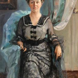 尼古萊·庫茲涅佐夫(Nikolai Kuznetsov)高清作品:Portrait of the wife of aviator S. Utochkin