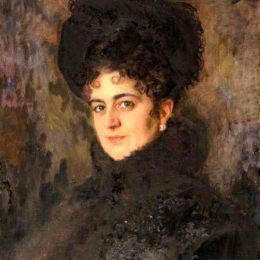 尼古萊·庫茲涅佐夫(Nikolai Kuznetsov)高清作品:Portrait of Rakhily Semenovna Isakovich