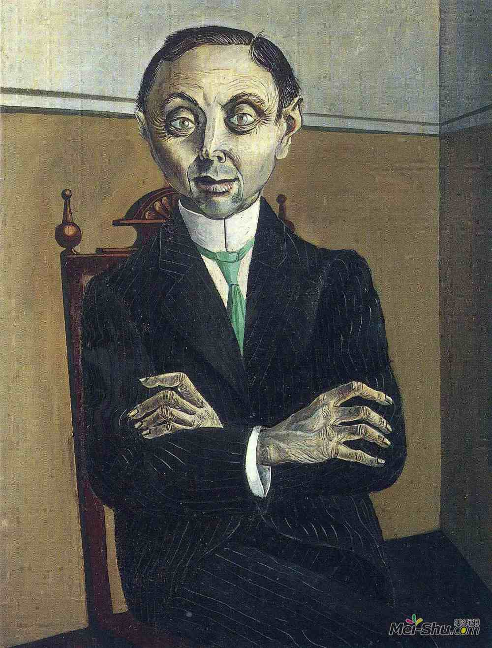 奥托·迪克斯(Otto Dix)高清作品《Portrait of Paul F. Schmidt》