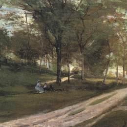 保羅·高更(Paul Gauguin)高清作品:In the forest Saint Cloud II