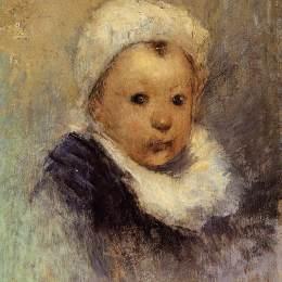 保羅·高更(Paul Gauguin)高清作品:Portrait of a child (Aline Gauguin)