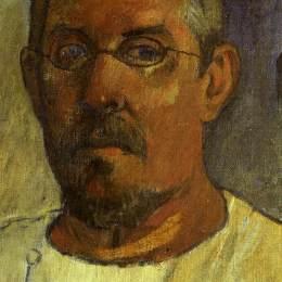 《帶眼鏡的自畫像》保羅·高更(Paul Gauguin)高清作品欣賞