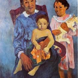 《塔希提婦女和兩個孩子》保羅·高更(Paul Gauguin)高清作品欣賞