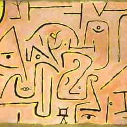 《沉思》保羅·克利(Paul Klee)高清作品欣賞