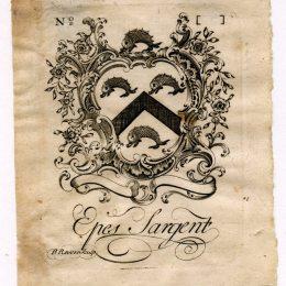 保羅·列維爾(Paul Revere)高清作品:Epes Sargent Bookplate