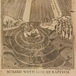 《耶穌在約旦河與施洗約翰》保羅·列維爾(Paul Revere)高清作品欣賞