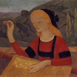 《《城堡》中的刺繡工》保羅·塞律西埃(Paul Serusier)高清作品欣賞
