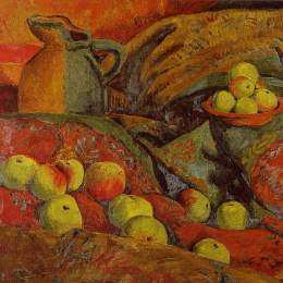 《蘋果和罐子的靜物》保羅·塞律西埃(Paul Serusier)高清作品欣賞