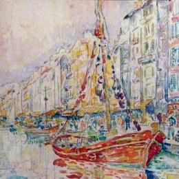 《馬賽的老港口》保羅·西涅克(Paul Signac)高清作品欣賞