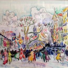 《尼斯狂歡節》保羅·西涅克(Paul Signac)高清作品欣賞