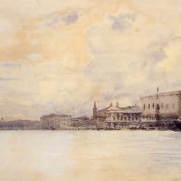 《威尼斯大運河入口處》保羅·西涅克(Paul Signac)高清作品欣賞