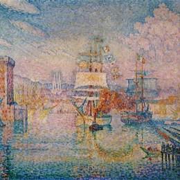 《馬賽港入口處》保羅·西涅克(Paul Signac)高清作品欣賞