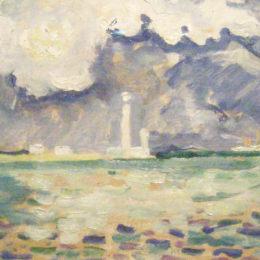 《加特維爾燈塔》保羅·西涅克(Paul Signac)高清作品欣賞