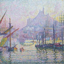 《馬賽港口觀》保羅·西涅克(Paul Signac)高清作品欣賞