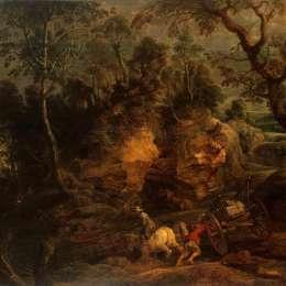 《石載山水》彼得·保羅·魯本斯(Peter Paul Rubens)高清作品欣賞