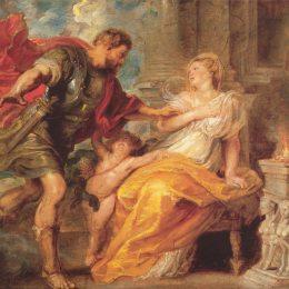 《火星和瑞亞西爾維婭》彼得·保羅·魯本斯(Peter Paul Rubens)高清作品欣賞