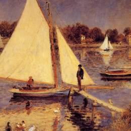 皮耶爾·奧古斯特·雷諾阿(Pierre-Auguste Renoir)高清作品:Sailboats at Argenteuil