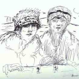 《兩個朋友》皮爾·波納爾(Pierre Bonnard)高清作品欣賞