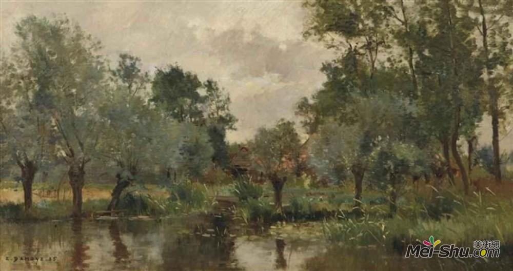 皮埃尔伊曼纽尔达摩耶(Pierre Emmanuel Damoye)高清作品《村落池塘》