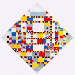 《勝利布吉伍吉》皮特·蒙德里安(Piet Mondrian)高清作品欣賞