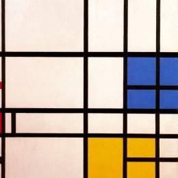 《成分11倫敦,藍色,山丹丹和黃色》皮特·蒙德里安(Piet Mondrian)高清作品欣賞