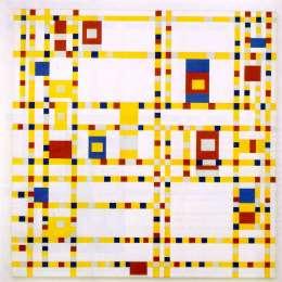 《百老匯布吉舞曲》皮特·蒙德里安(Piet Mondrian)高清作品欣賞