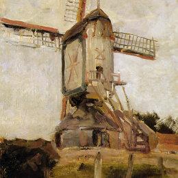 皮特·蒙德里安(Piet Mondrian)高清作品:Mill of Heeswijk Sun