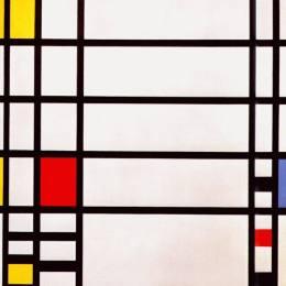 《特拉法加廣場》皮特·蒙德里安(Piet Mondrian)高清作品欣賞