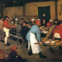 《農民婚禮》彼得·勃魯蓋爾(Pieter Bruegel the Elder)高清作品欣賞