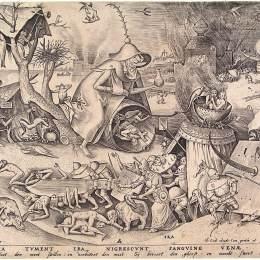 《憤怒使口腔腫脹并使血液中的血液變黑》彼得·勃魯蓋爾(Pieter Bruegel the Elder)高清作品欣賞