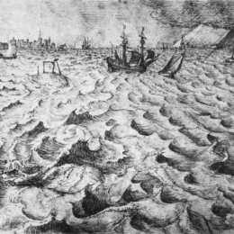 《眺望安特衛普的海景》彼得·勃魯蓋爾(Pieter Bruegel the Elder)高清作品欣賞