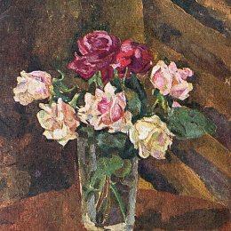 《玻璃中的玫瑰》孔科洛夫茨基(Pyotr Konchalovsky)高清作品欣賞