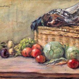 《靜物與鴨子》孔科洛夫茨基(Pyotr Konchalovsky)高清作品欣賞