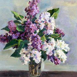 《靜物與丁香》孔科洛夫茨基(Pyotr Konchalovsky)高清作品欣賞