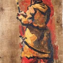 《三聯旗哥薩克用叉子》孔科洛夫茨基(Pyotr Konchalovsky)高清作品欣賞