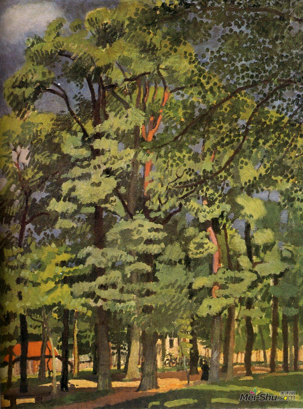 劳尔·杜飞(Raoul Dufy)高清作品《法莱斯景观》