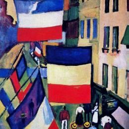 《掛滿旗幟的街道》勞爾·杜飛(Raoul Dufy)高清作品欣賞