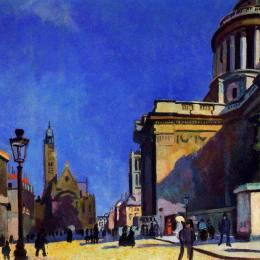 《萬神殿和圣艾蒂安杜蒙》勞爾·杜飛(Raoul Dufy)高清作品欣賞