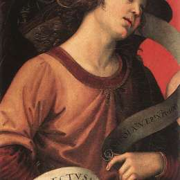 拉斐爾(Raphael)高清作品:Angel, from the polyptych of St. Nicolas of Tolentino