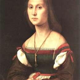 拉斐爾(Raphael)高清作品:Portrait of a Woman (La Muta)
