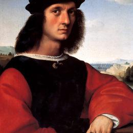 拉斐爾(Raphael)高清作品:Portrait of Agnolo Doni