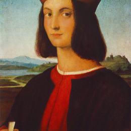 拉斐爾(Raphael)高清作品:Portrait of the Young Pietro Bembo