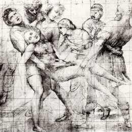 拉斐爾(Raphael)高清作品:Study for the Entombment in the Galleria B