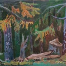 《云杉林的邊緣》羅曼·塞爾斯基(Roman Selsky)高清作品欣賞