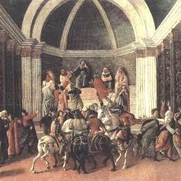 《弗吉尼亞的故事》山德羅·波提切利(Sandro Botticelli)高清作品欣賞