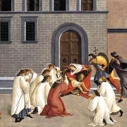 《圣哲諾比的三個奇跡》山德羅·波提切利(Sandro Botticelli)高清作品欣賞