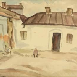《在房子前面》斯特凡-迪米特雷斯庫(Stefan Dimitrescu)高清作品欣賞